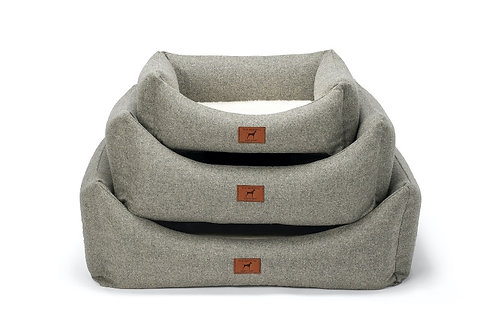 Stone Grey Dog Bed
