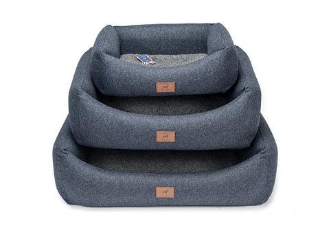 Cobalt Blue (Grey Topper) Dog Bed