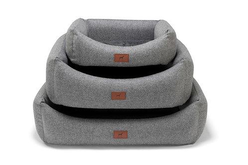 Slate Grey Dog Bed (Grey Wool Topper)