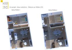 2 solutions d'aménagement