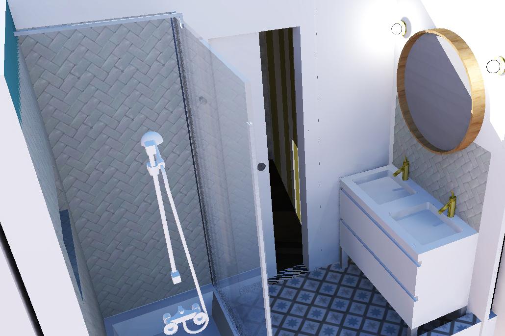visuel 3D salle d'eau