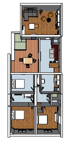 plan du projet d'aménagement du R+1