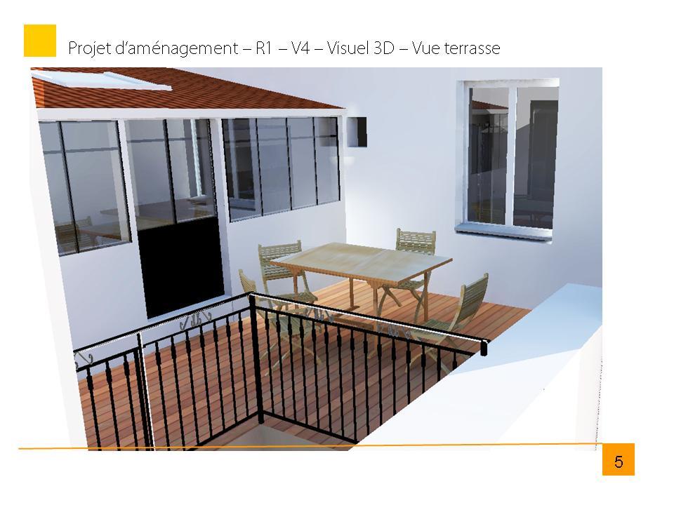 visuel 3D de la future terrasse