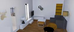 Visuel 3D futur salon du R+1