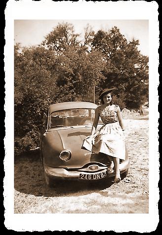 Ma tante Gillette sur la Dinah-Panhard