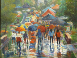 Thornhill Festival,oil on canvas,16x20ins.,$580.