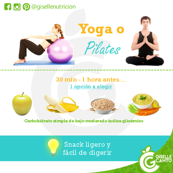 Snack previo: Yoga o pilates