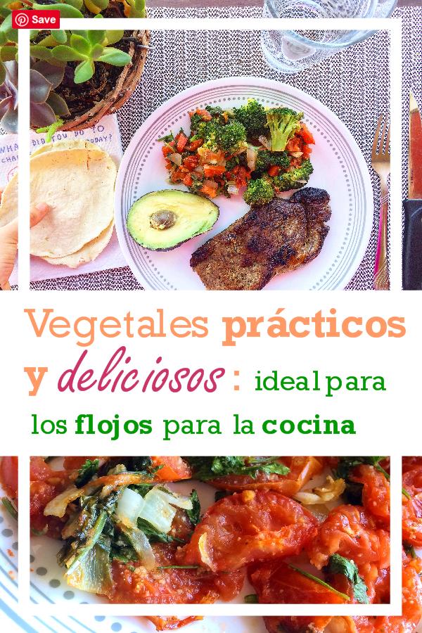 Vegetales prácticos y deliciosos, ideal para los flojos para la cocina