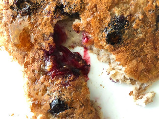 Hot Cakes de Blueberries con 4 ingredientes