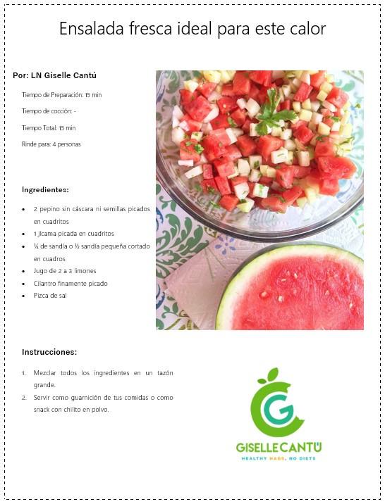 Receta Ensalada fresca ideal para este calor