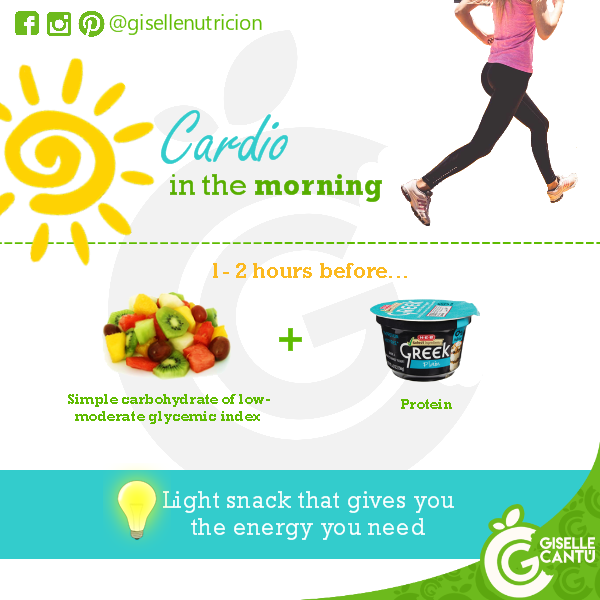 Pre-workout: Cardio in the morning
