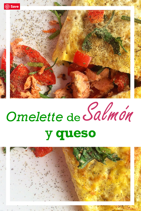 Omelette de salmón y queso