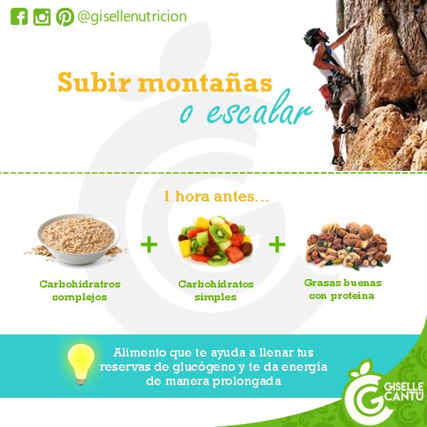 Snack previo: Subir montañas o escalar
