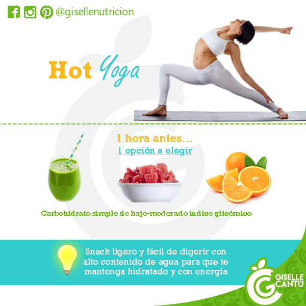 Snack previo: Hot Yoga