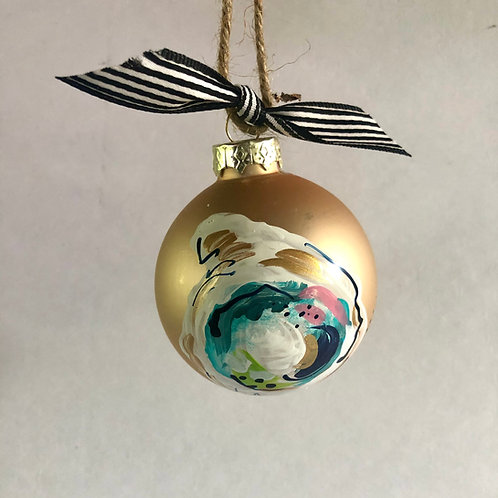 Gold Oyster Shell Ornament