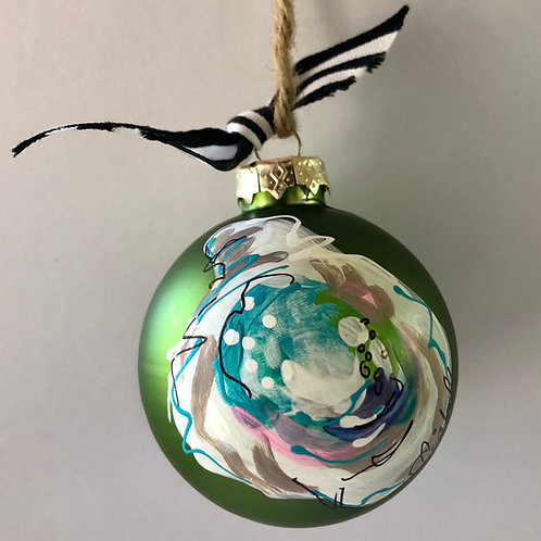 Green Oyster Shell Ornament