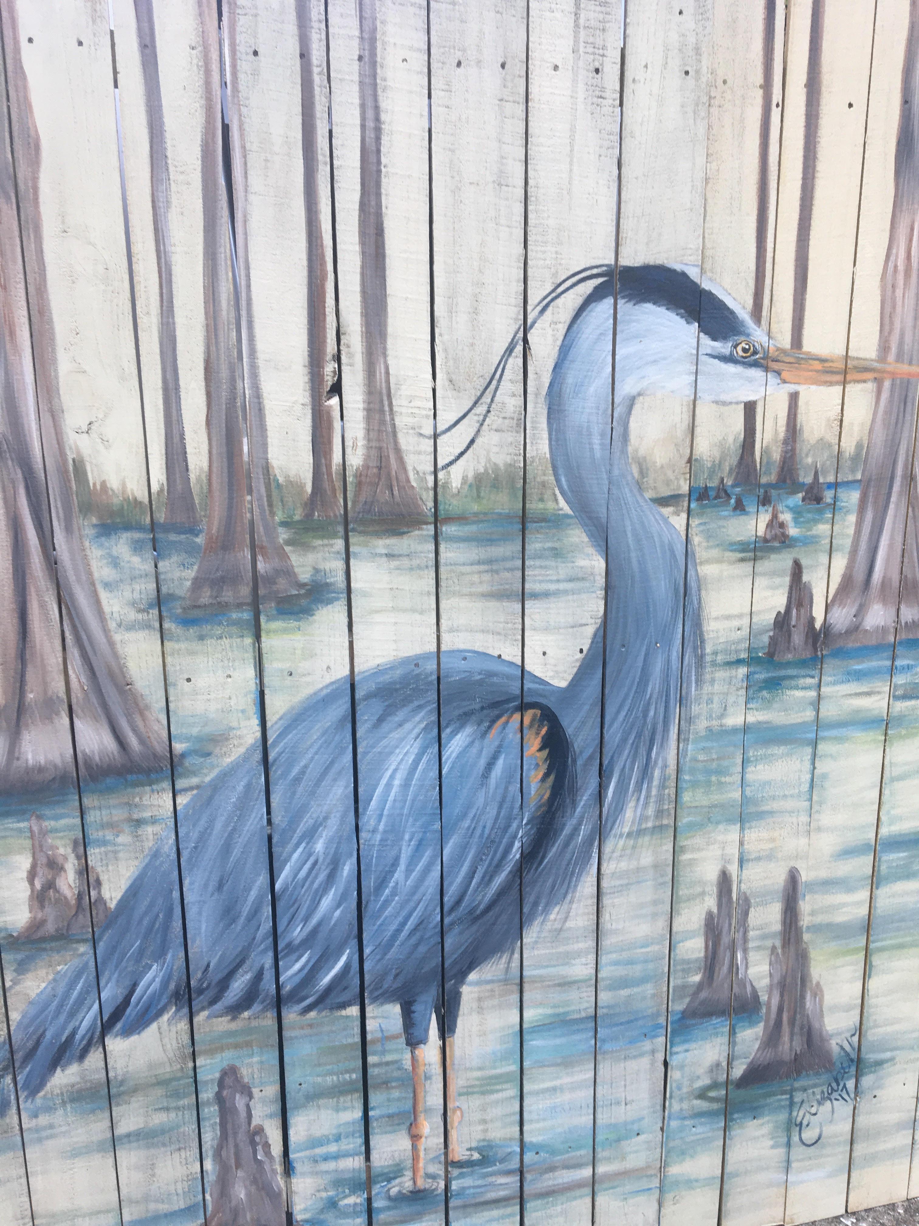 Heron's Knees elizabeth & co art