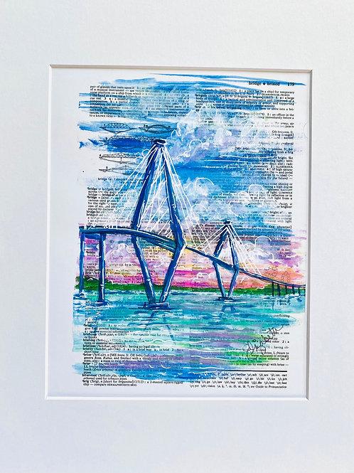 Pink Ravenel Bridge Print