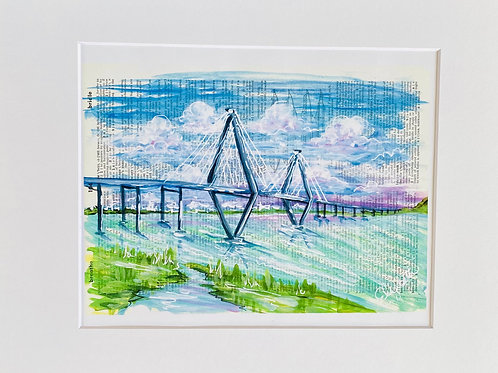 Purple Ravenel Bridge Print