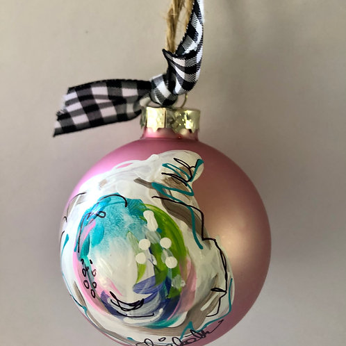 Pink Oyster Shell Ornament