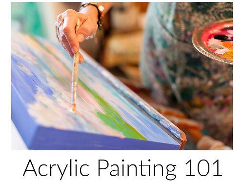 Acrylic Painting 101 Six week class