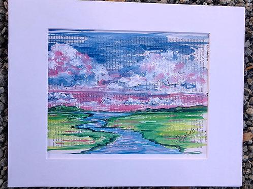 creek clouds print