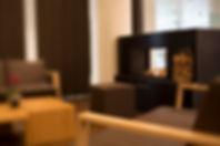 Hotel Schloss Gerzensee gemütliche Lobby mit Cheminée