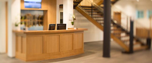 Hotel Schloss Gerzensee Rezeption Eingangsbereich neu gestaltet