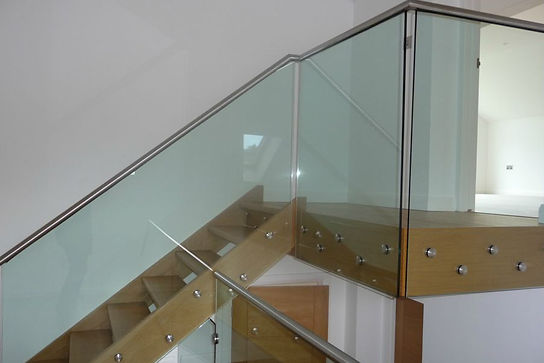 glass balustrade with steel