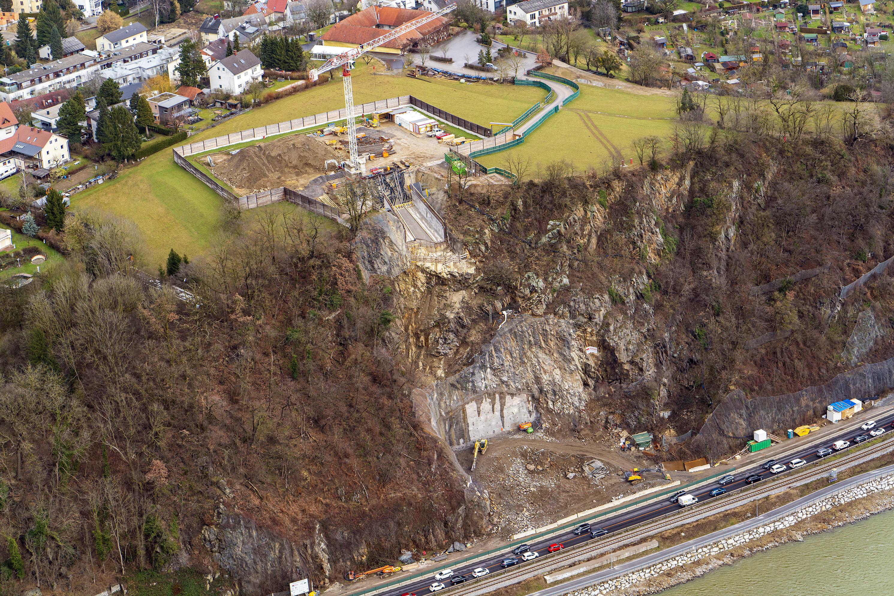 Brückenbau Linz