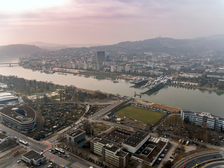 "Bridge Over Danube - ""Sahara"" Flight Over Linz"