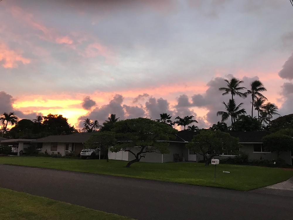 Kailua is famous for gorgeous sunrises.