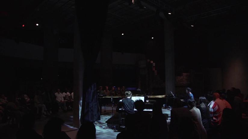 BoCA – Biennial of Contemporary Arts Lissabon Carpintarias de São Lázaro Kukuruz Quartet plays music by Julius Eastman and Marcel Zaes  Philip Bartels, piano Duri Collenberg, piano Simone Keller, piano Lukas Rickli, piano  BoCA Bienal, 2019 © Simone Keller