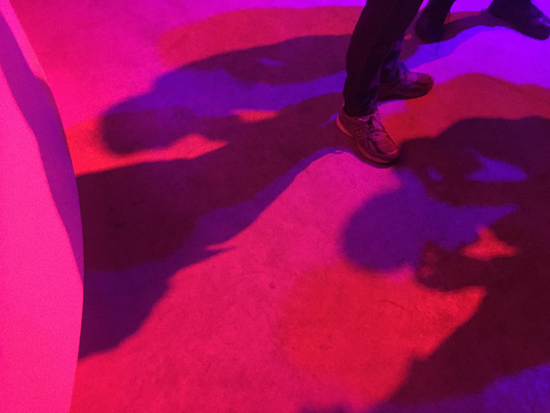 Zone W/O People performance: Videogame INDIE Lisboa, Oklou+Krampf, 2019.