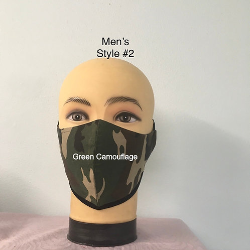 Triple Layer  Reusable   Fitted  Face Mask