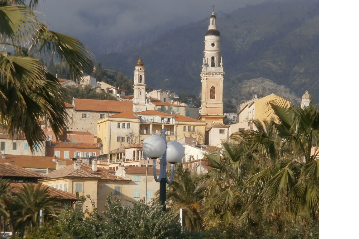 Menton is a lovely town along the coastline