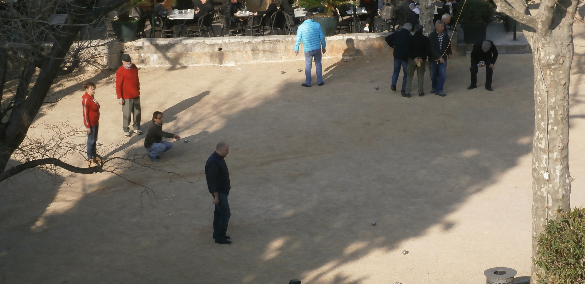 Playing boules in St Paul de Vence