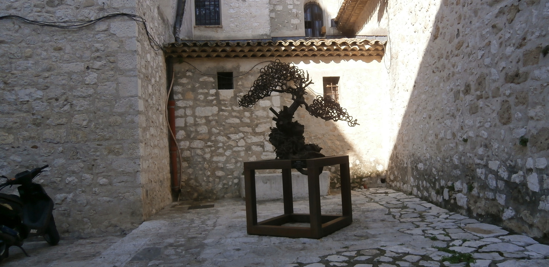 One of the many art installations in St Paul de Vence