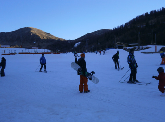 Skiing in nearby Isola 2000