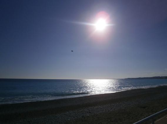 Sunset over the Promenade des Anglais