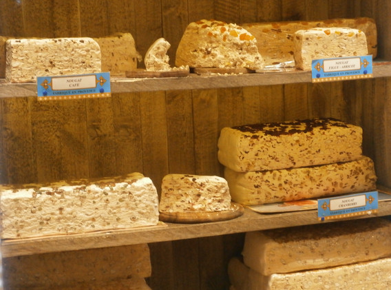 Famous French nougat which is available in the area
