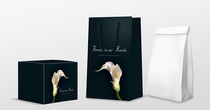 Branded Eco Boxes, cremation presentation bags | Canfly Marketing