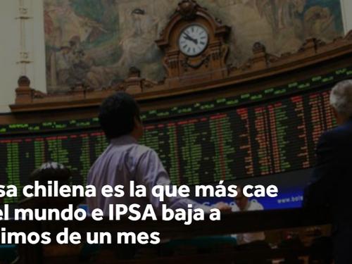 Bolsa chilena es la que más cae en el mundo