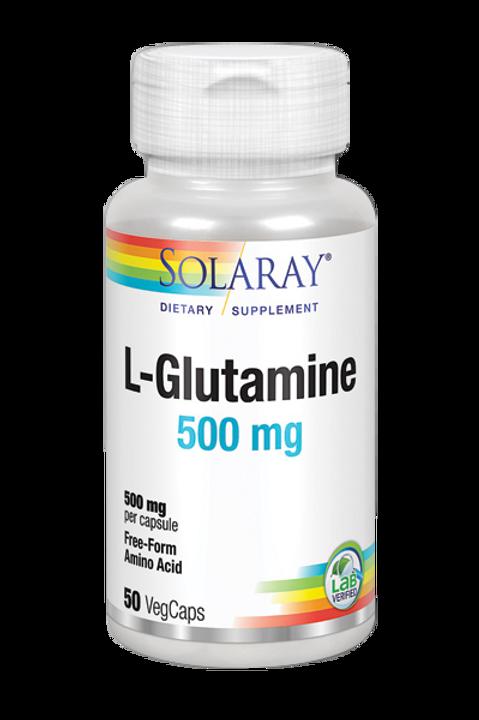 L-Glutamine 500mg 50 VegCaps.
