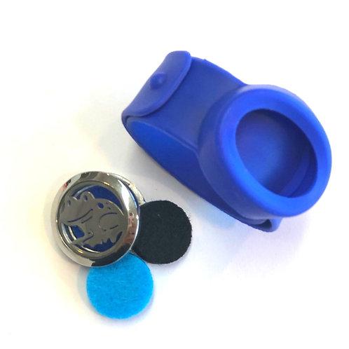 Pulsera Infantil Difusora.Correa azul, modelo rana.