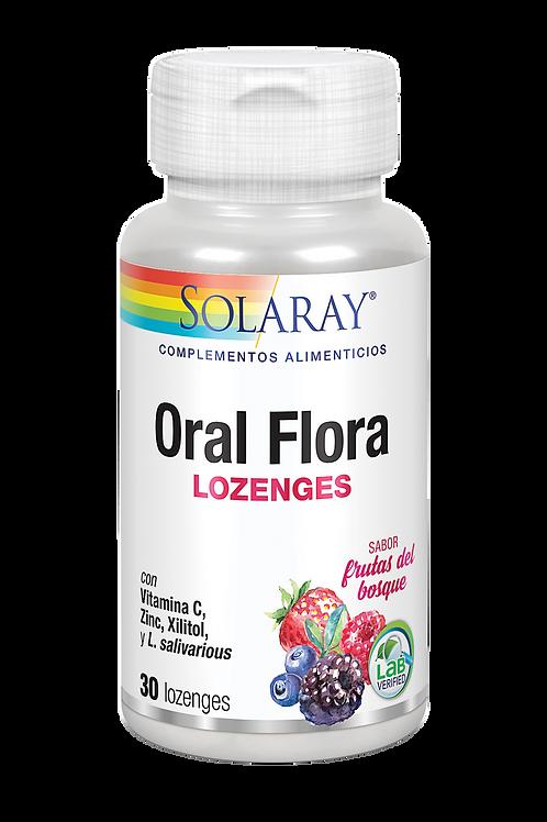 Oral flora 30 comp. Sabor frutos del bosque