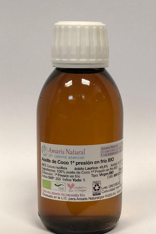 Aceite de Coco Virgen 1ª presión en frio BIO 125 ml