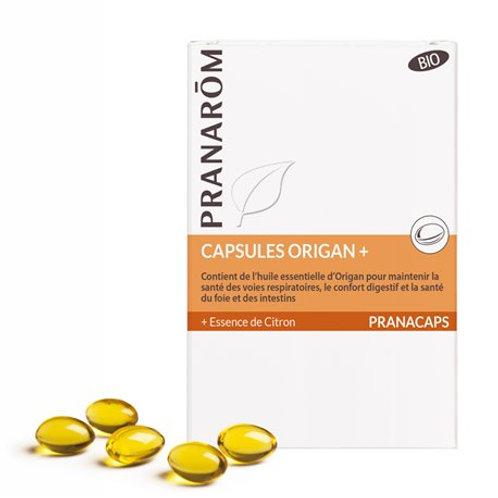 Cápsulas de ae de Orégano +Esencia de Limón 30 cápsulas