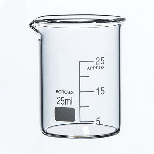 Vaso precipitado medidor de vidrio,25 ml