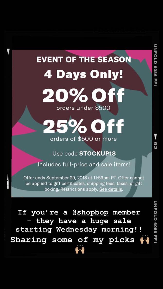 September Shopbop Sale Picks